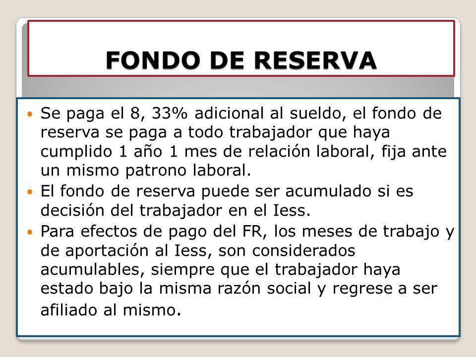 FONDO DE RESERVA