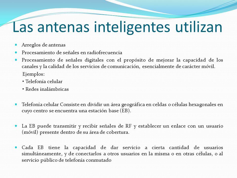 Las antenas inteligentes utilizan