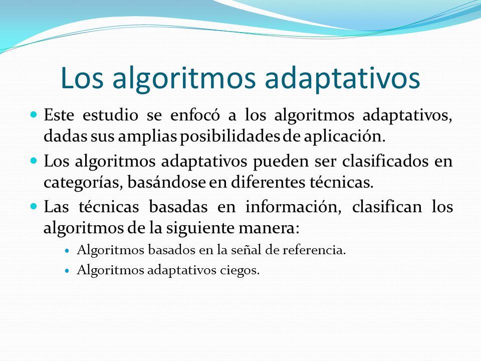 Los algoritmos adaptativos