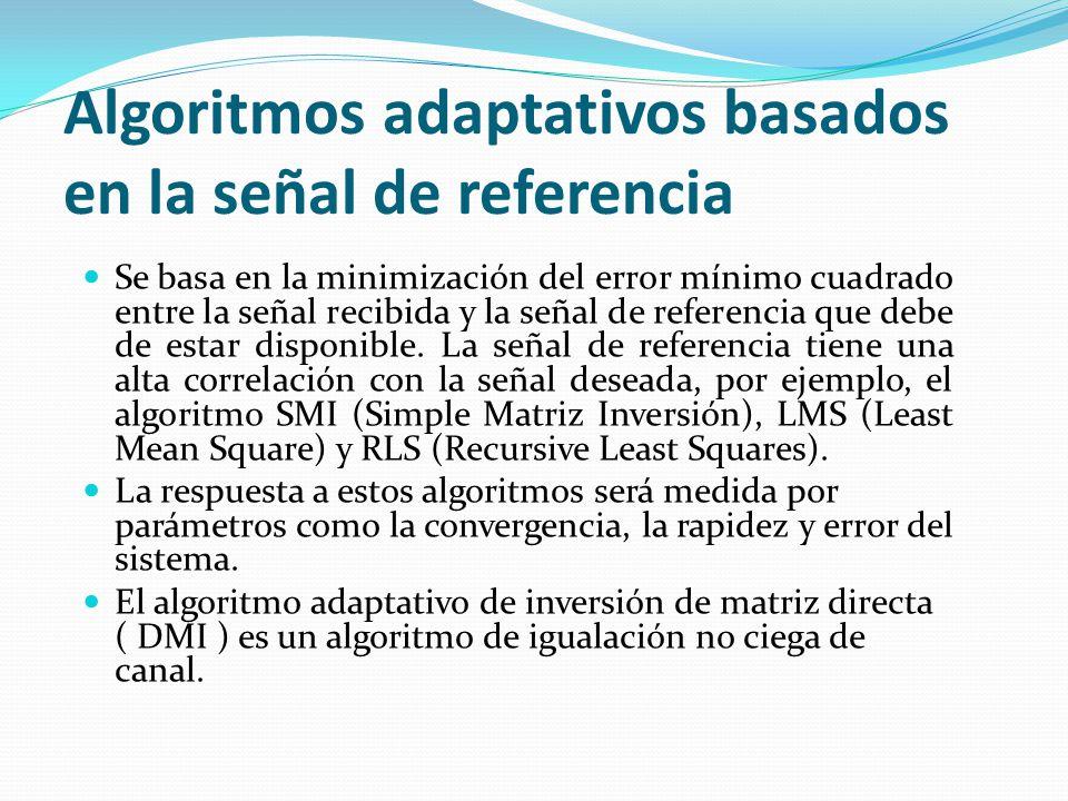 Algoritmos adaptativos basados en la señal de referencia