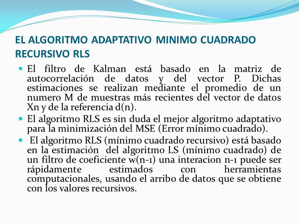 EL ALGORITMO ADAPTATIVO MINIMO CUADRADO RECURSIVO RLS