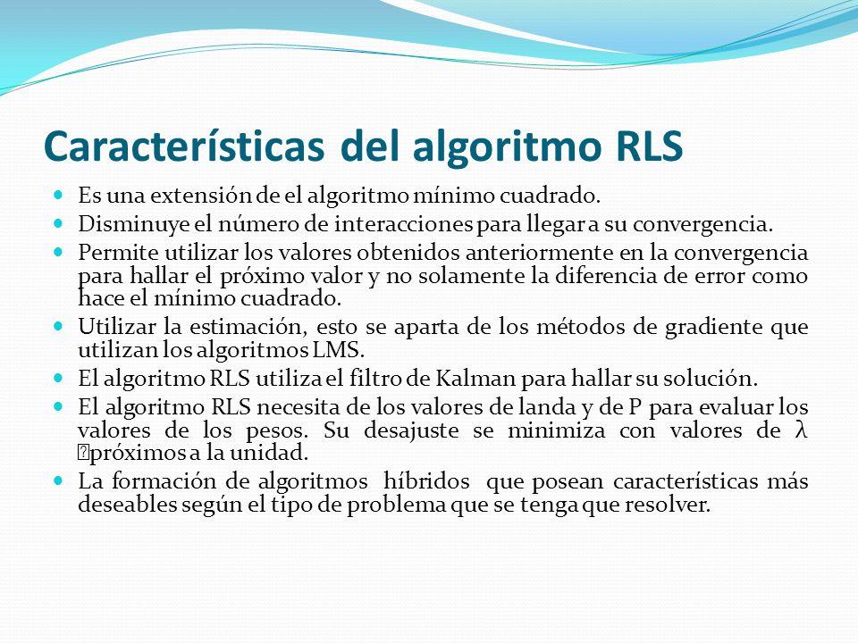 Características del algoritmo RLS