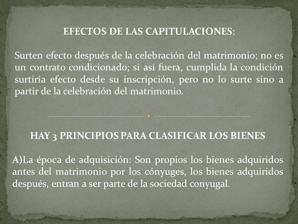 HAY 3 PRINCIPIOS PARA CLASIFICAR LOS BIENES