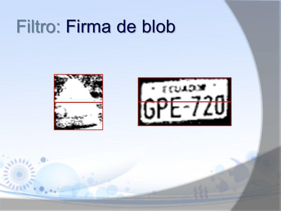 Filtro: Firma de blob