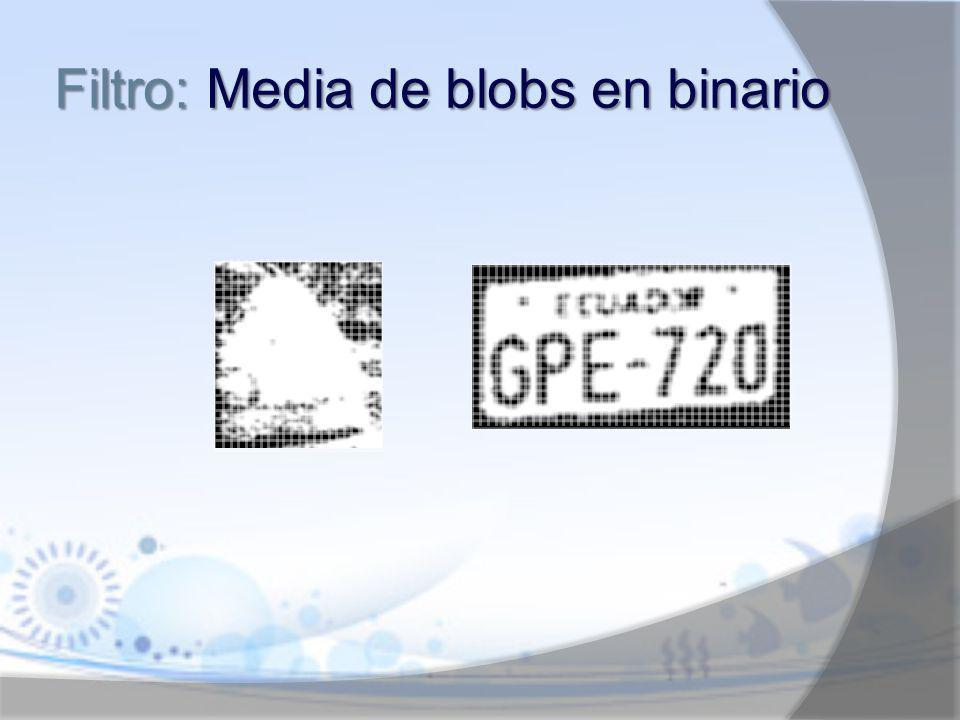 Filtro: Media de blobs en binario