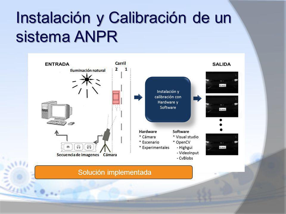 Instalación y Calibración de un sistema ANPR