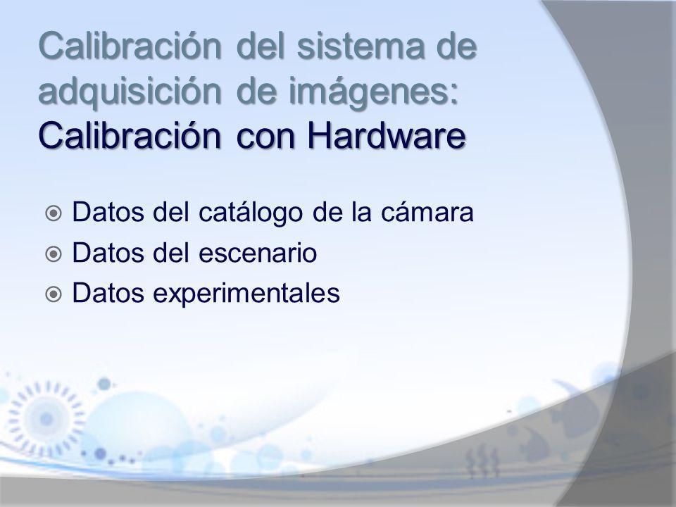 Calibración del sistema de adquisición de imágenes: Calibración con Hardware