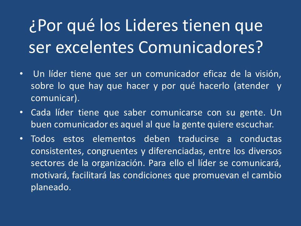 ¿Por qué los Lideres tienen que ser excelentes Comunicadores