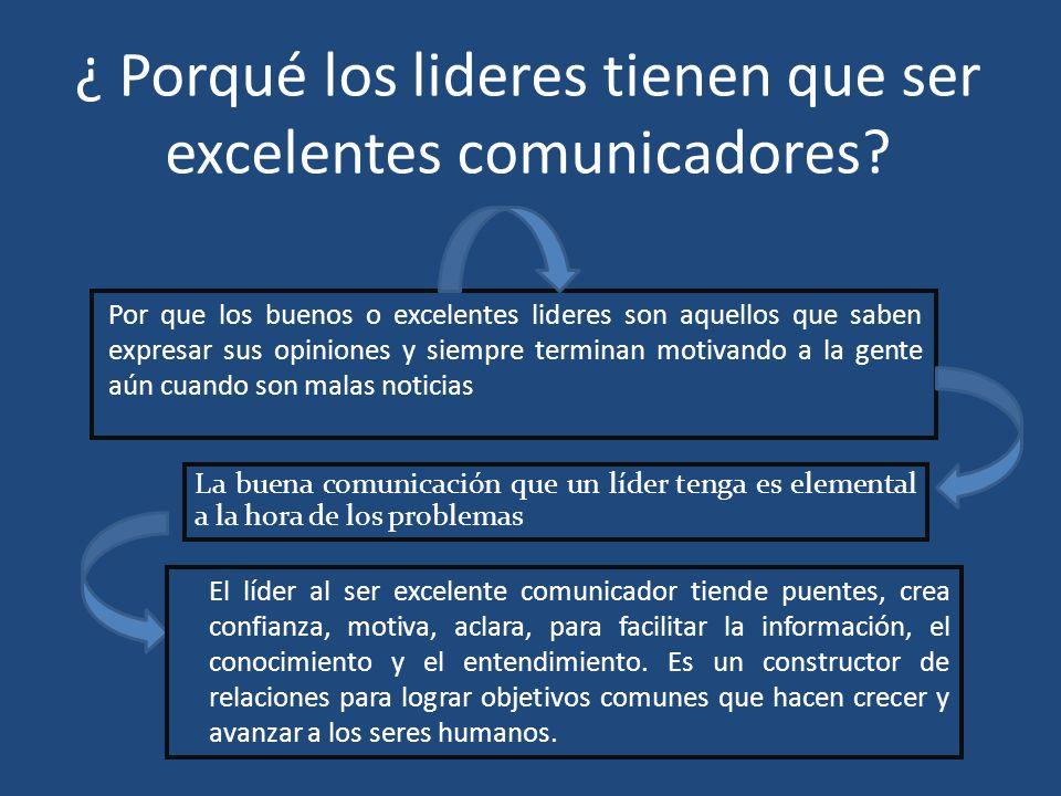 ¿ Porqué los lideres tienen que ser excelentes comunicadores