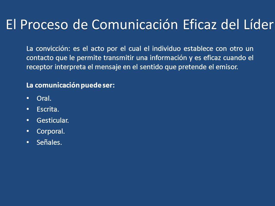 El Proceso de Comunicación Eficaz del Líder