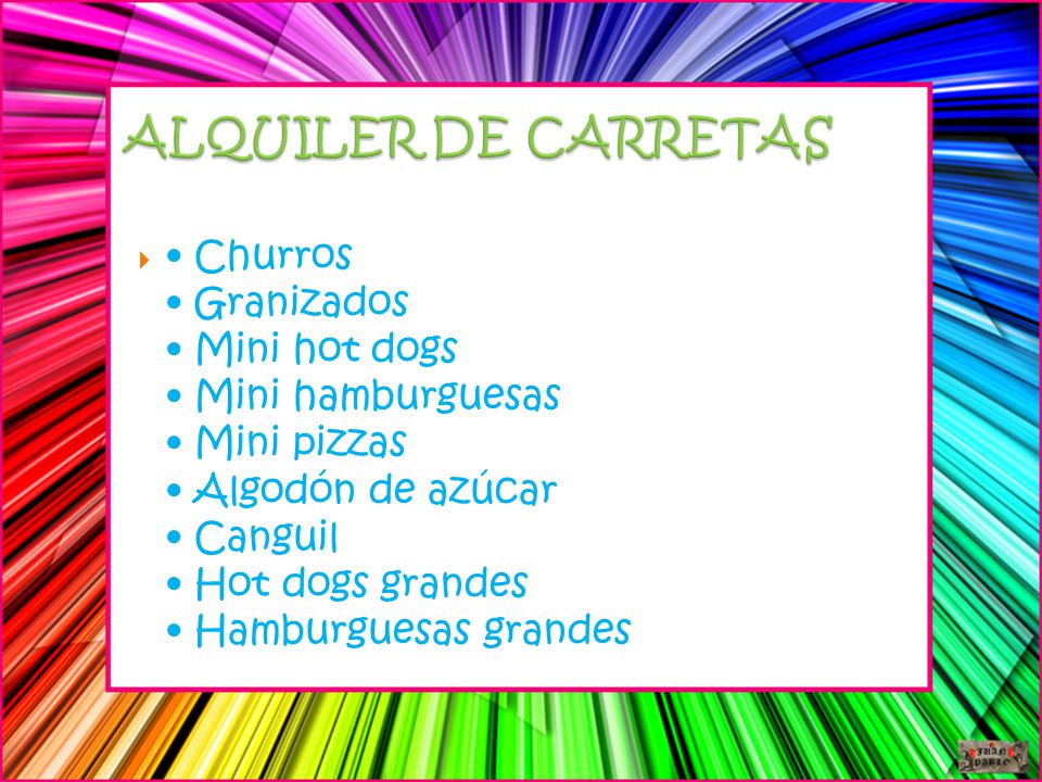 ALQUILER DE CARRETAS
