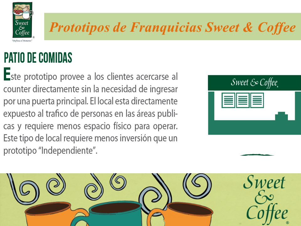 Prototipos de Franquicias Sweet & Coffee