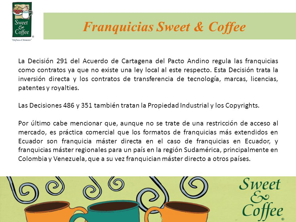 Franquicias Sweet & Coffee