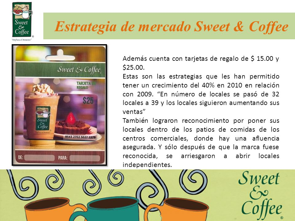 Estrategia de mercado Sweet & Coffee