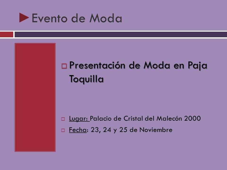 Evento de Moda Presentación de Moda en Paja Toquilla