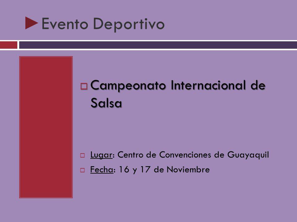 Evento Deportivo Campeonato Internacional de Salsa