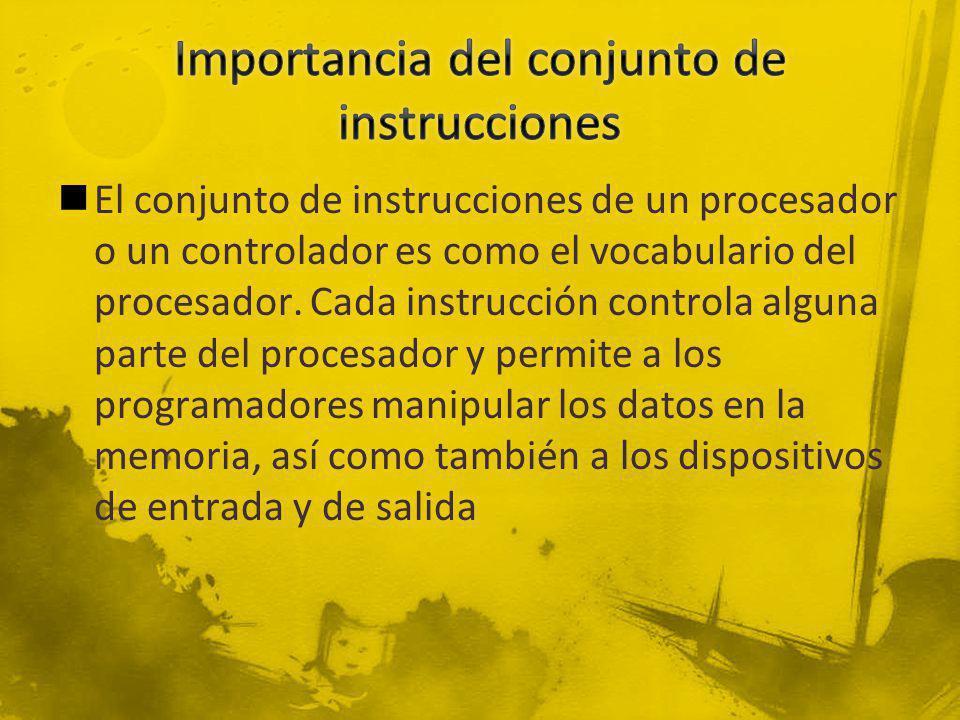 Importancia del conjunto de instrucciones