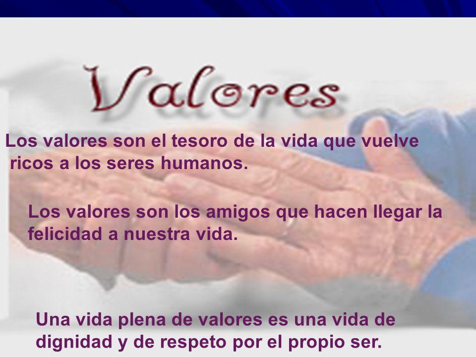 Los valores son el tesoro de la vida que vuelve