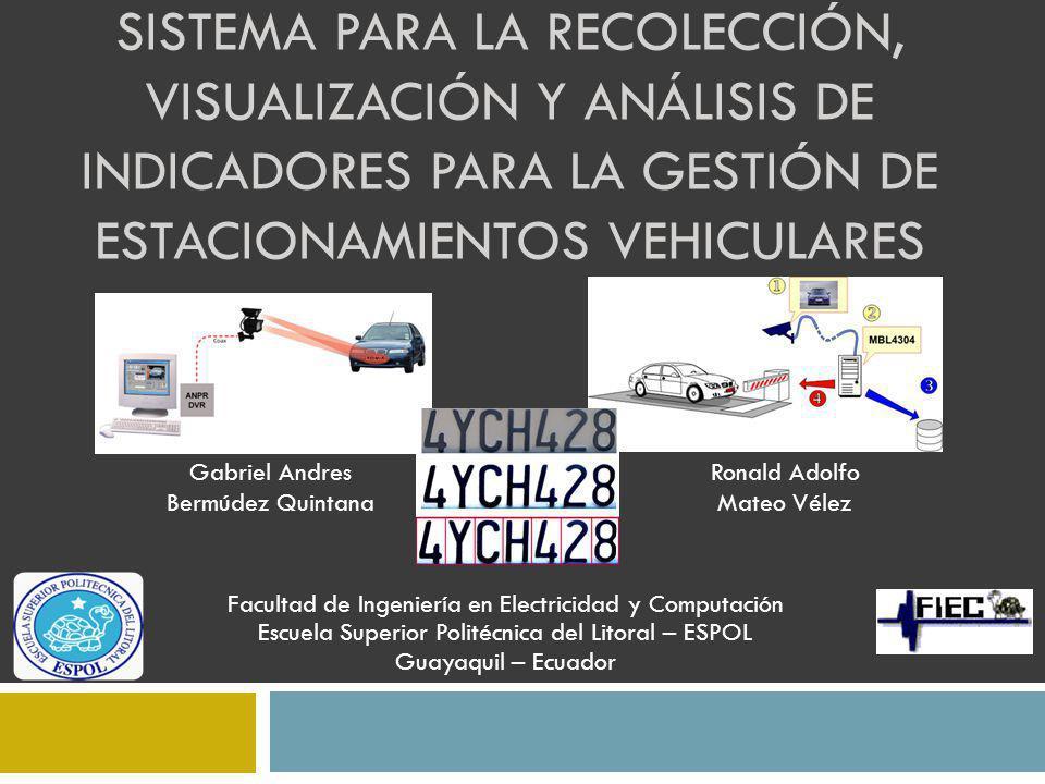 Sistema para la recolección, visualización y análisis de indicadores para la gestión de estacionamientos vehiculares