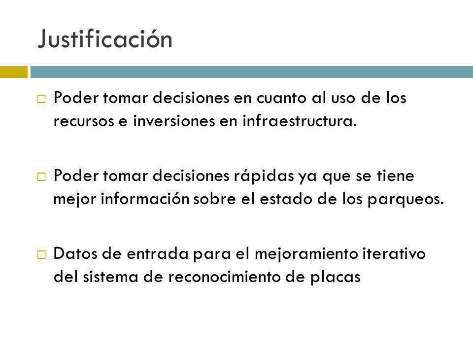 Justificación Poder tomar decisiones en cuanto al uso de los recursos e inversiones en infraestructura.