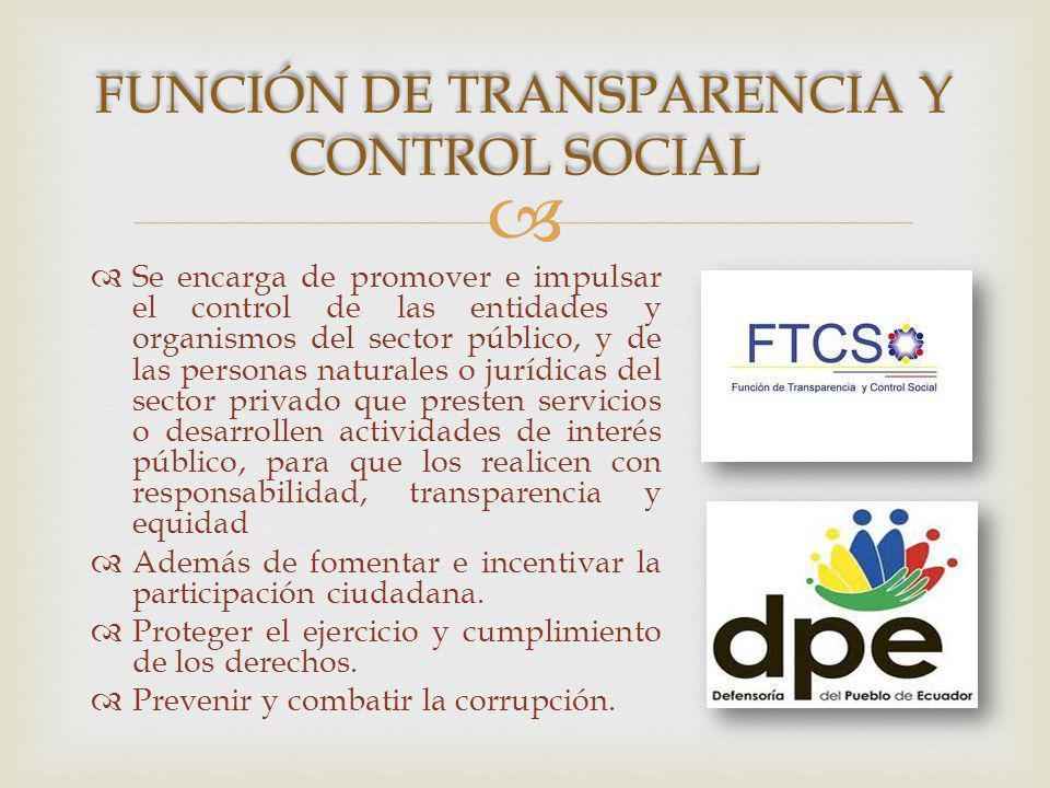 Función de Transparencia y Control Social