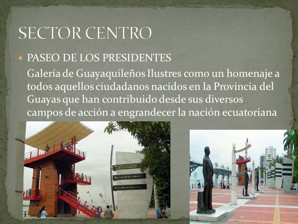 SECTOR CENTRO PASEO DE LOS PRESIDENTES