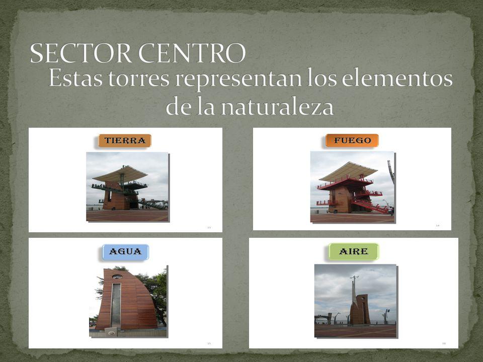 Estas torres representan los elementos de la naturaleza