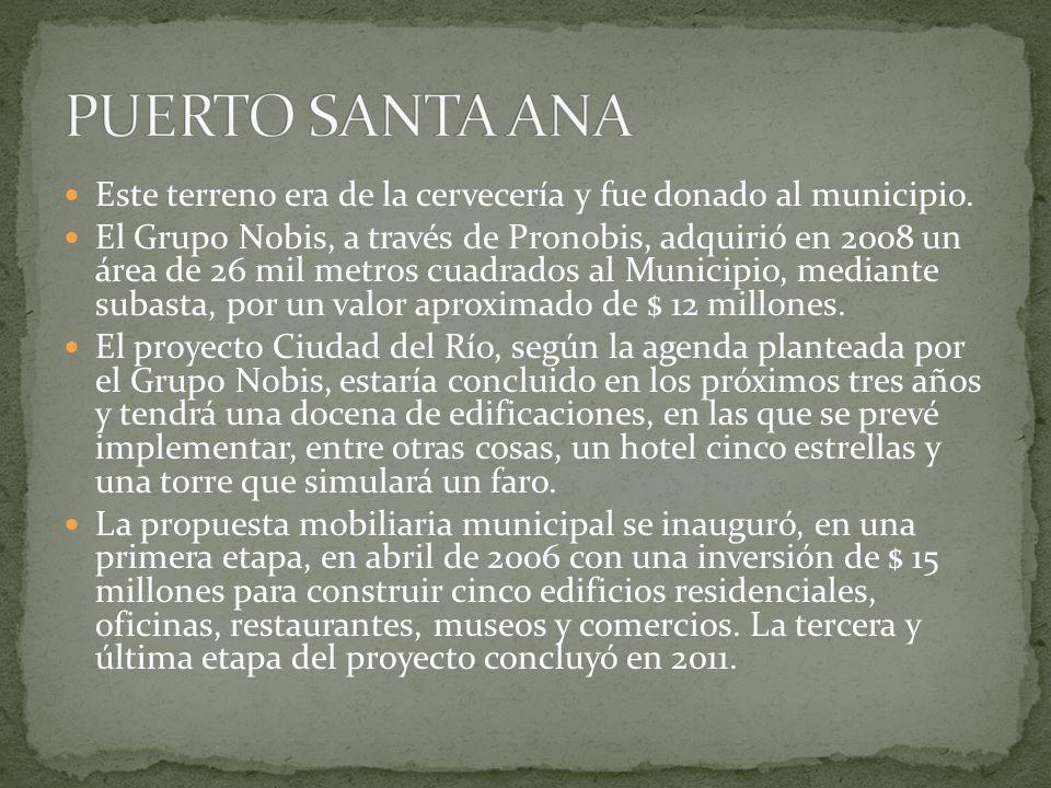 PUERTO SANTA ANA Este terreno era de la cervecería y fue donado al municipio.