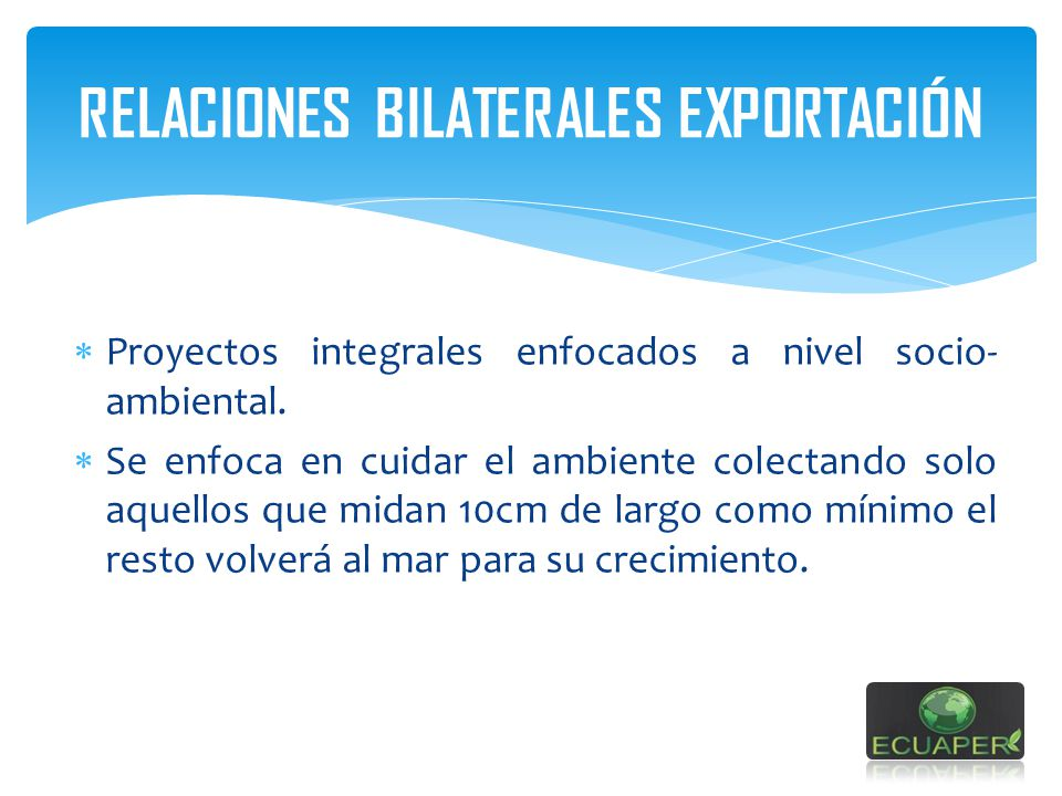 RELACIONES BILATERALES EXPORTACIÓN