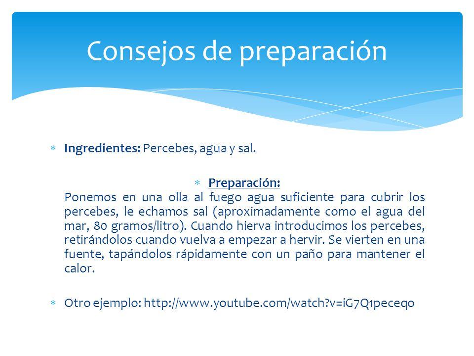 Consejos de preparación