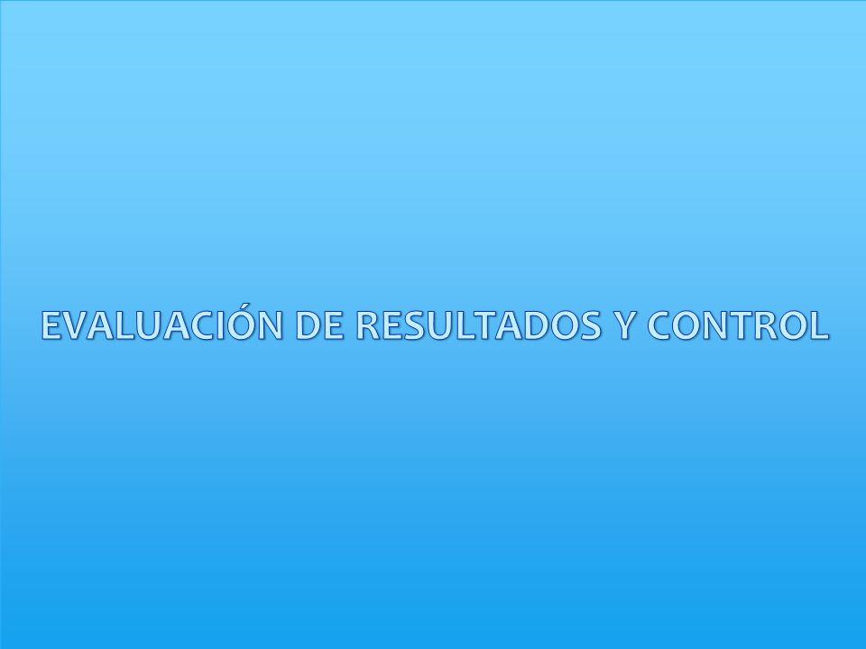 EVALUACIÓN DE RESULTADOS Y CONTROL