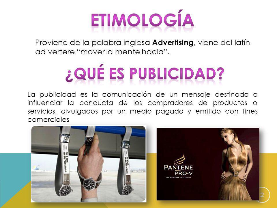 Etimología ¿Qué es publicidad