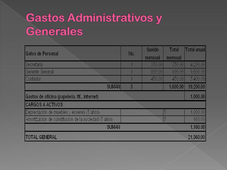 Gastos Administrativos y Generales