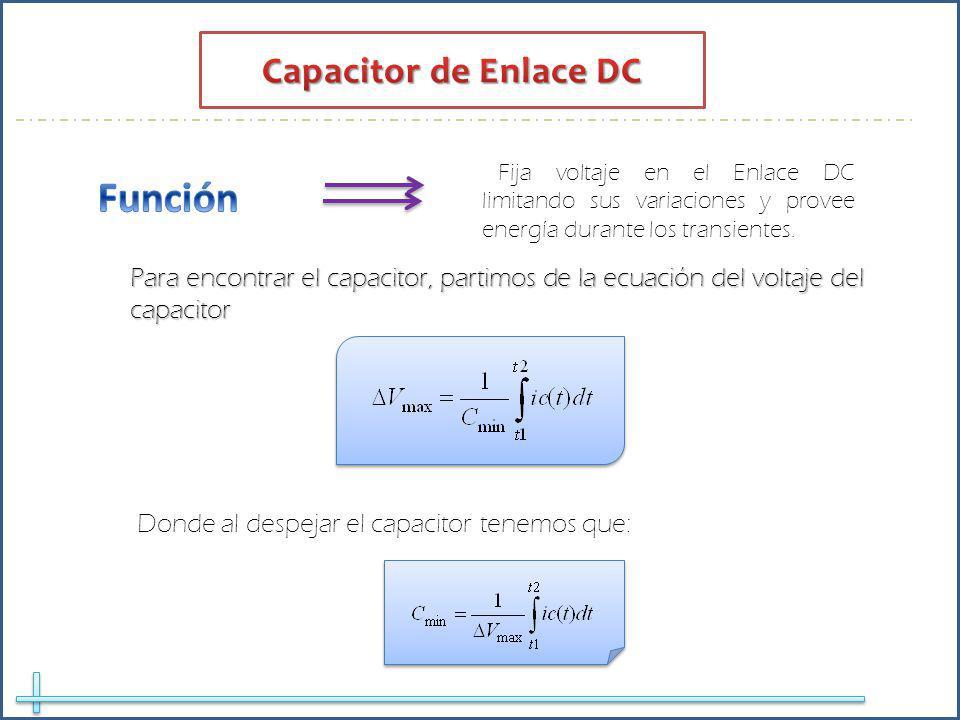 Función Capacitor de Enlace DC
