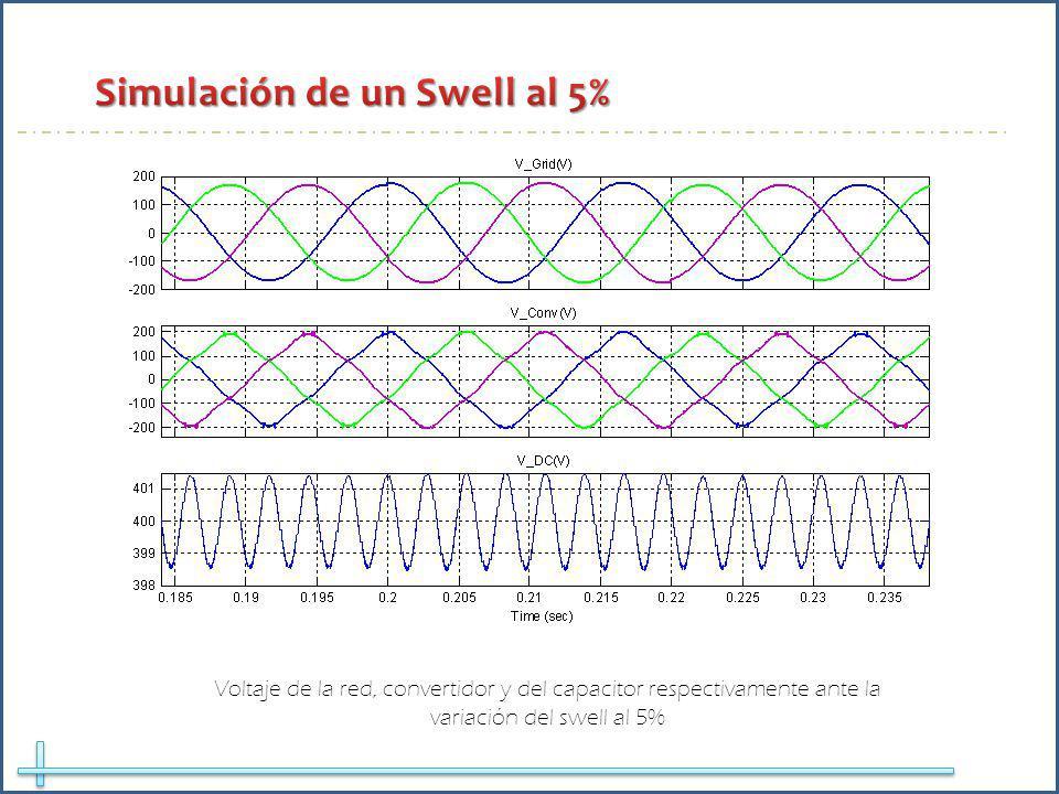 Simulación de un Swell al 5%