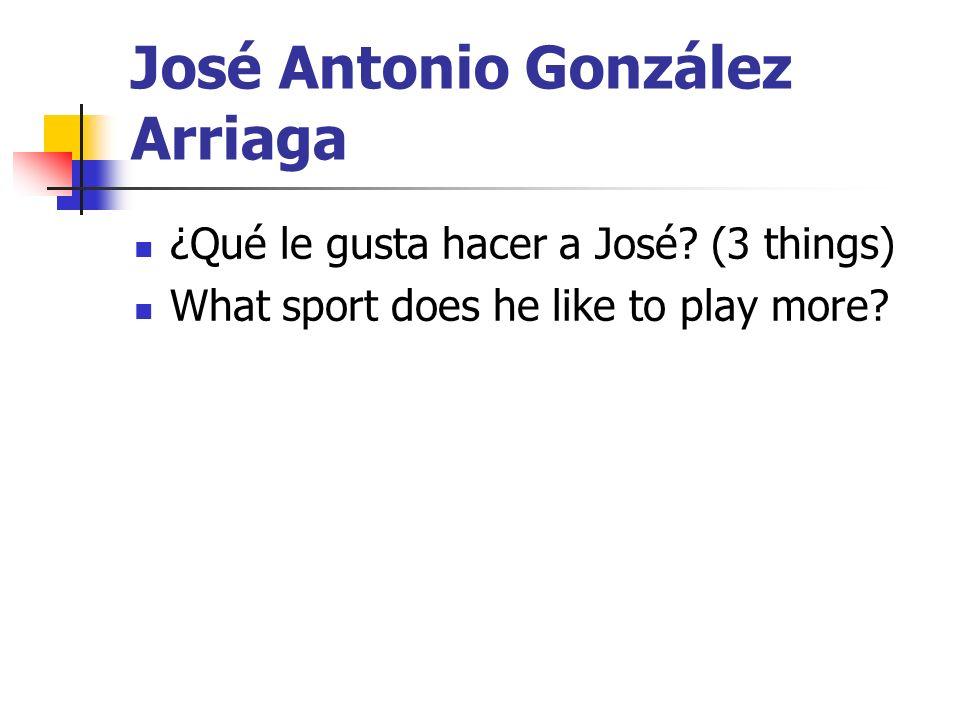 José Antonio González Arriaga