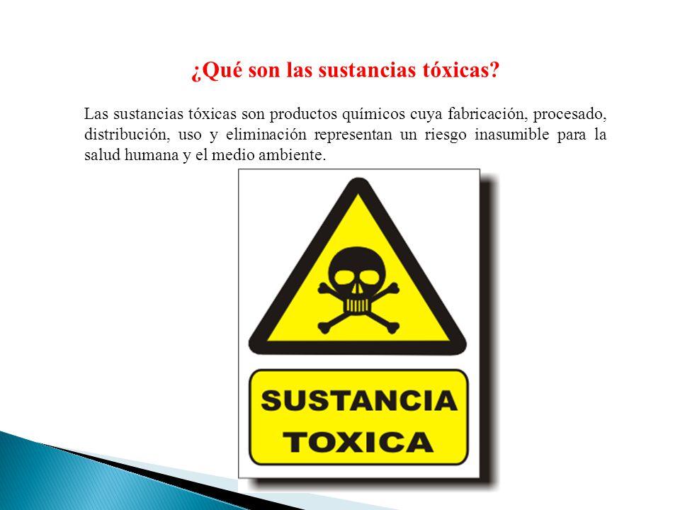 ¿Qué son las sustancias tóxicas