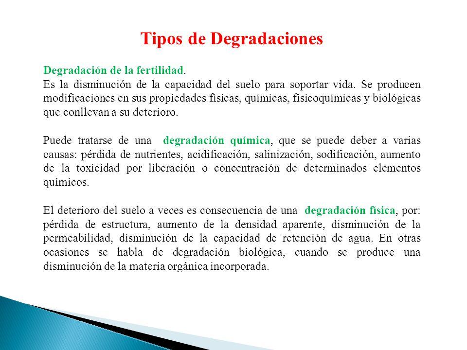 Tipos de Degradaciones