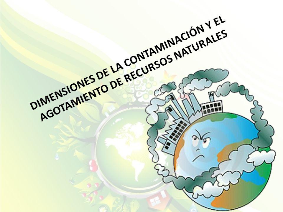 DIMENSIONES DE LA CONTAMINACIÓN Y EL AGOTAMIENTO DE RECURSOS NATURALES