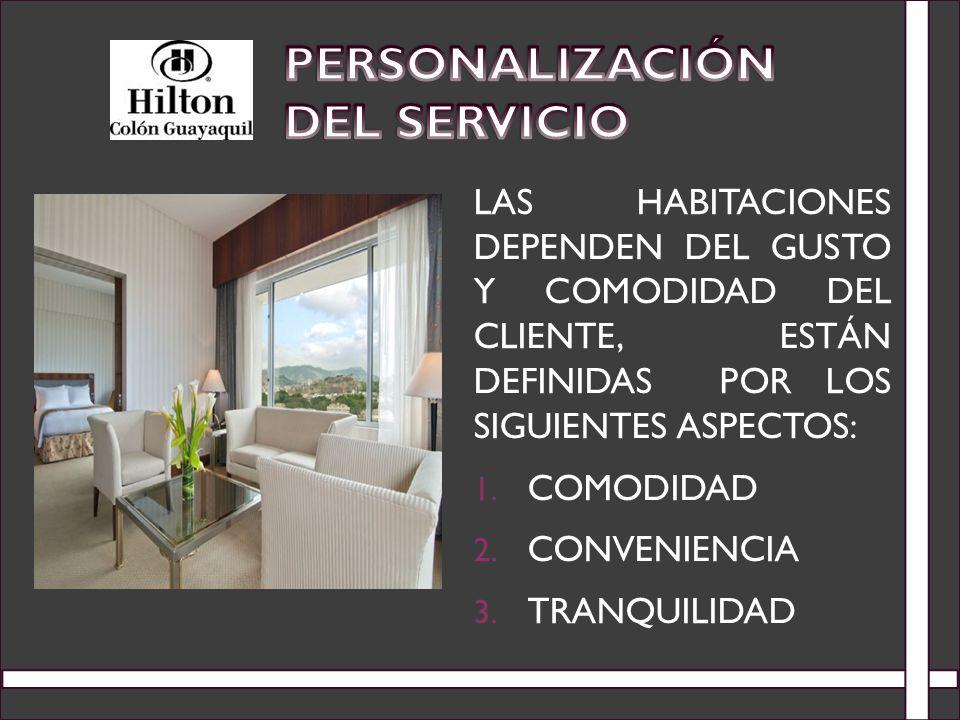 Personalización del Servicio