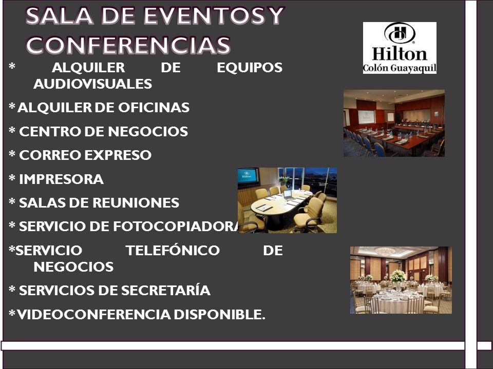 Sala de Eventos y Conferencias