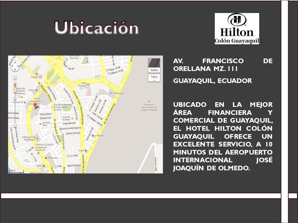 Ubicación Av. Francisco de Orellana Mz. 111 Guayaquil, Ecuador