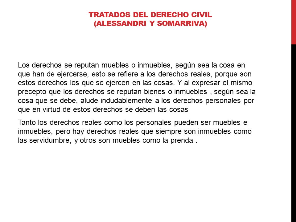 TRATADOS DEL DERECHO CIVIL (ALESSANDRI Y SOMARRIVA)