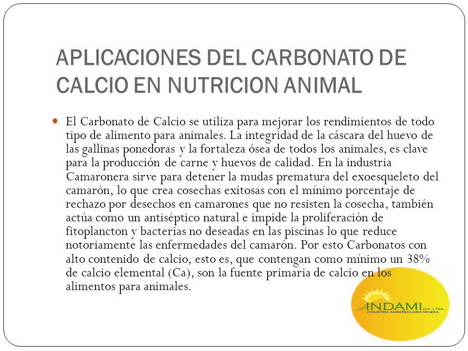 APLICACIONES DEL CARBONATO DE CALCIO EN NUTRICION ANIMAL