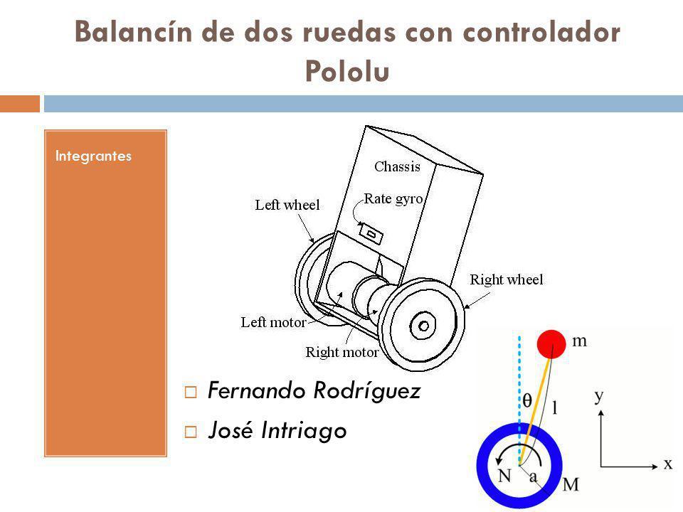 Balancín de dos ruedas con controlador Pololu