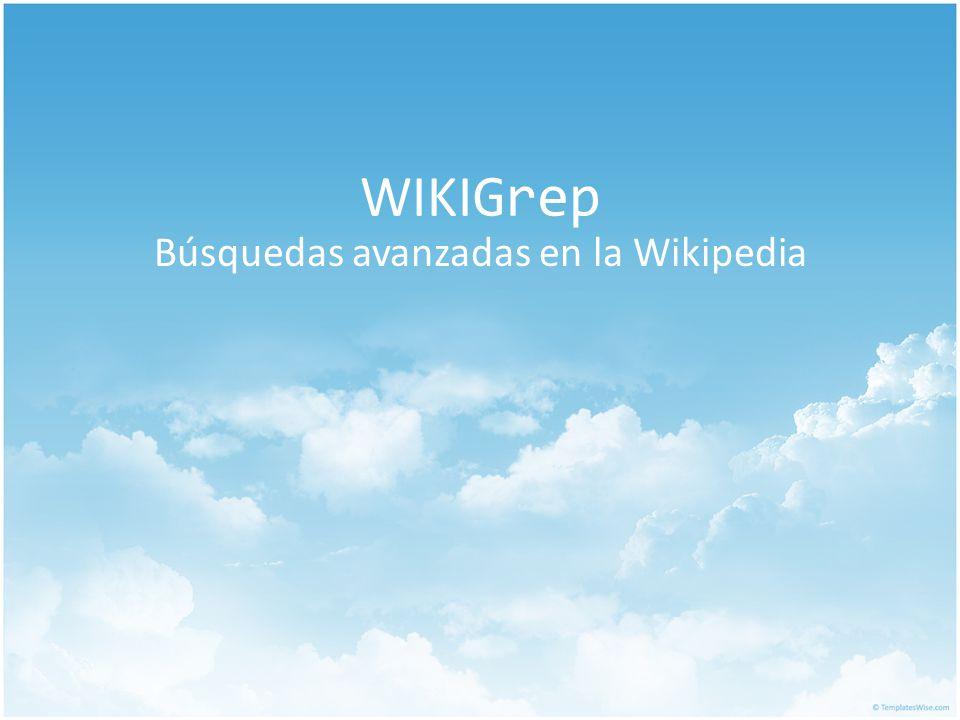Búsquedas avanzadas en la Wikipedia