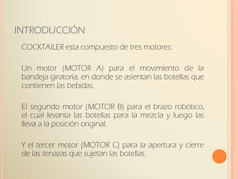 INTRODUCCIÓN COCKTAILER esta compuesto de tres motores: