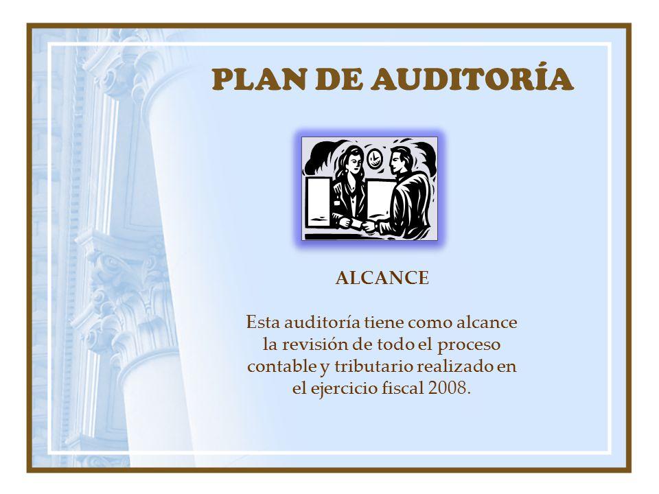 PLAN DE AUDITORÍA ALCANCE
