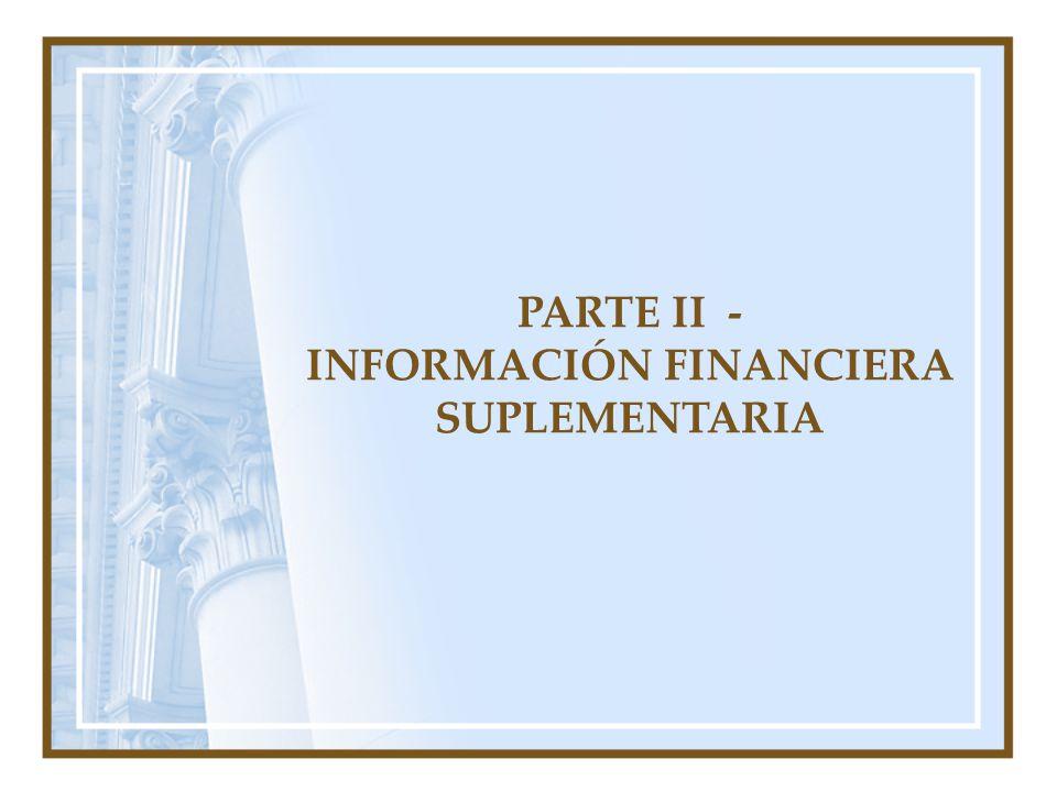 INFORMACIÓN FINANCIERA SUPLEMENTARIA