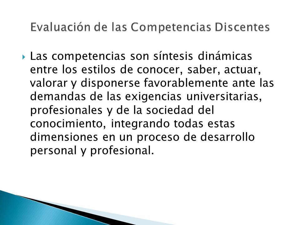 Evaluación de las Competencias Discentes